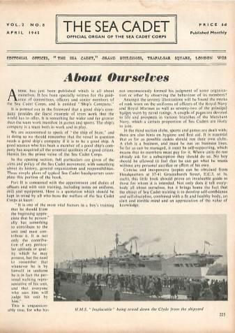 View individual pages of 'The Sea Cadet, No. 8, Vol. 2, April 1945'