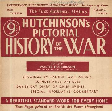 View individual pages of 'Hutchinson's Pictorial History of the War, Series 23 No. 14'