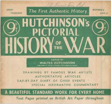 View individual pages of 'Hutchinson's Pictorial History of the War, Series 24 No.6'