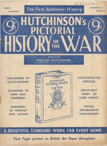 View individual pages of 'Hutchinson's Pictorial History of the War, Series 16 No. 10'