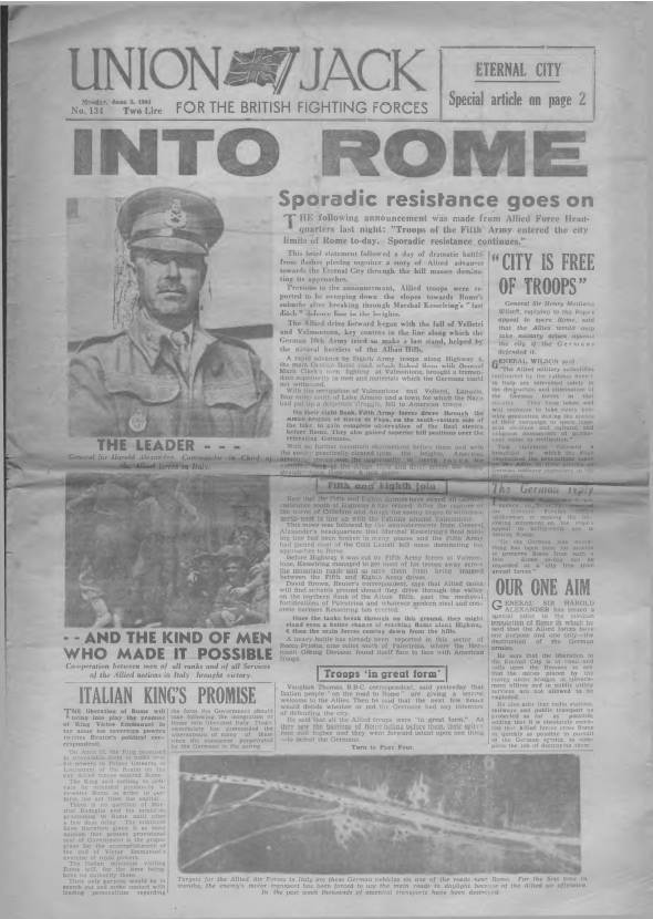 View individual pages of 'Union Jack  No 134 June 5th 1944'