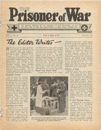 View individual pages of 'The Prisoner of War  No 30 Vol 3 October 1944'
