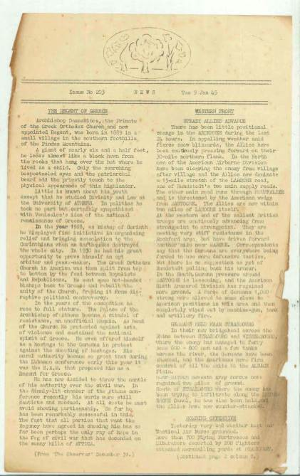 View individual pages of 'The Corps Courier Issues Jan 1945'