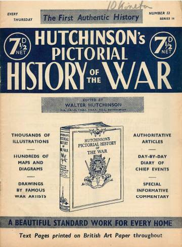 View individual pages of 'Hutchinson's Pictorial History of the War, Series 14 No 12'