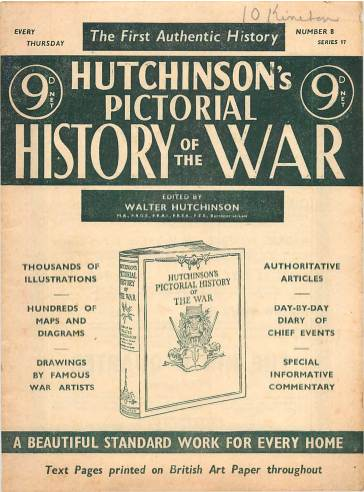 View individual pages of 'Hutchinson's Pictorial History of the War, Series 17 No 8'