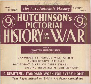 View individual pages of 'Hutchinson's Pictorial History of The War, Series 25, No. 7'