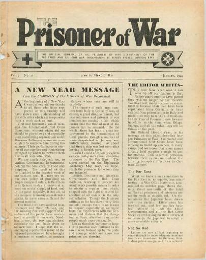 View individual pages of 'The Prisoner of War  No 21 Vol 2 January 1944'