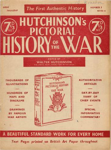 View individual pages of 'Hutchinson's Pictorial History of the War, Series 15 No 7'