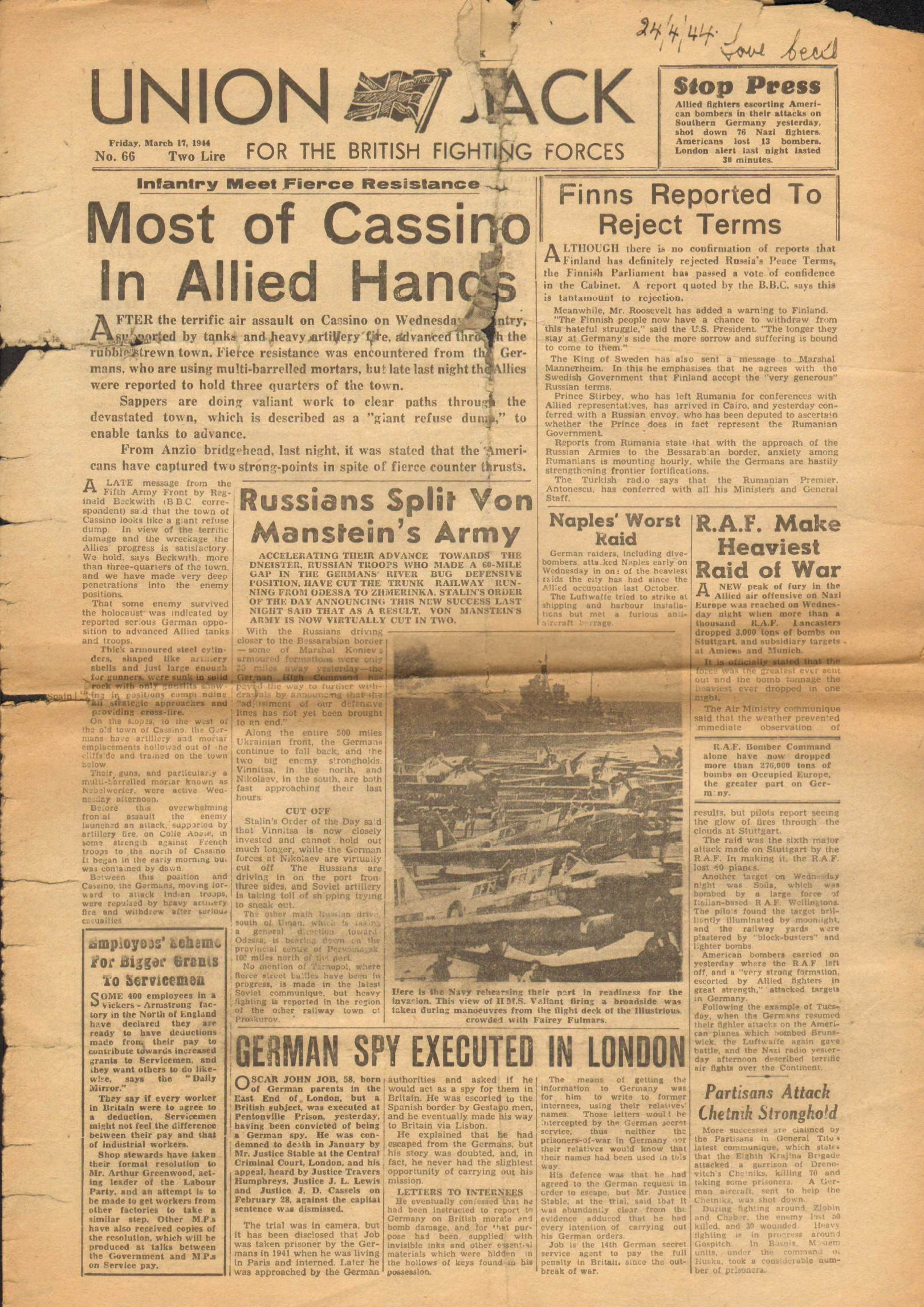 View individual pages of 'Union Jack, March 17th 1944'
