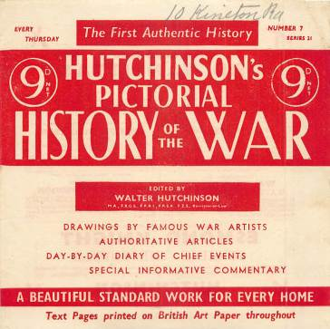 View individual pages of 'Hutchinson's Pictorial History of the War, Series 21 No 7'