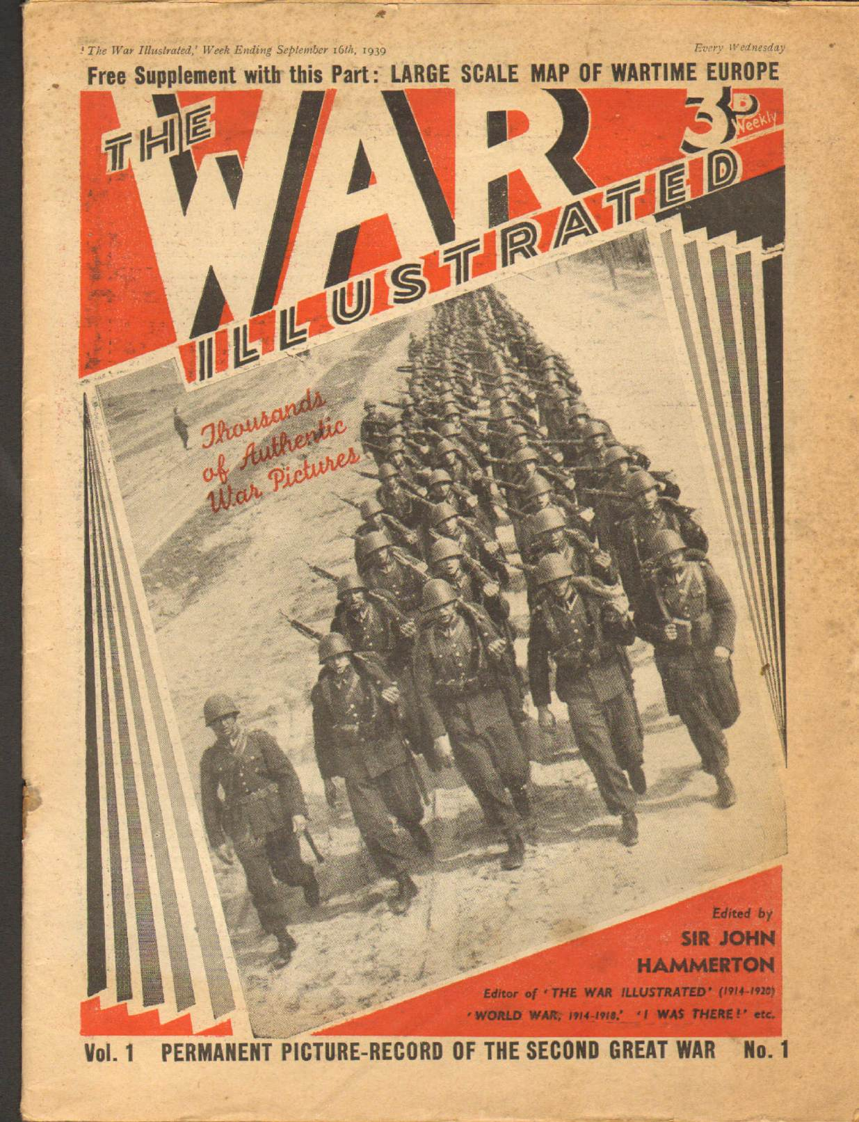 View individual pages of 'The War Illustrated  No 1 Vol 1 September 16th 1939'