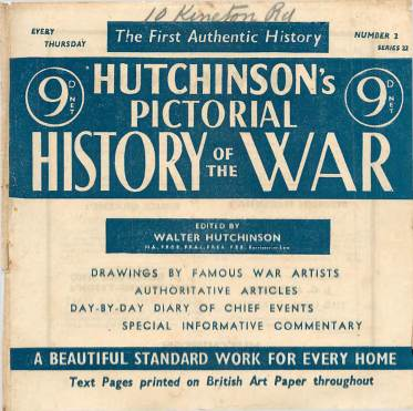 View individual pages of 'Hutchinson's Pictorial History of the War, Series 22 No 2'
