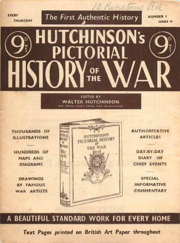 View individual pages of 'Hutchinson's Pictorial History of the War, Series 19 No 1'