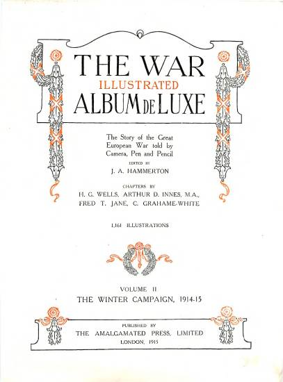 View individual pages of 'The War Illustrated, The Story of the Great European War, Volume II, The Winter Campaign 1914-1915'