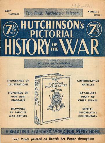 View individual pages of 'Hutchinson's Pictorial History of the War, Series 14 No 7'