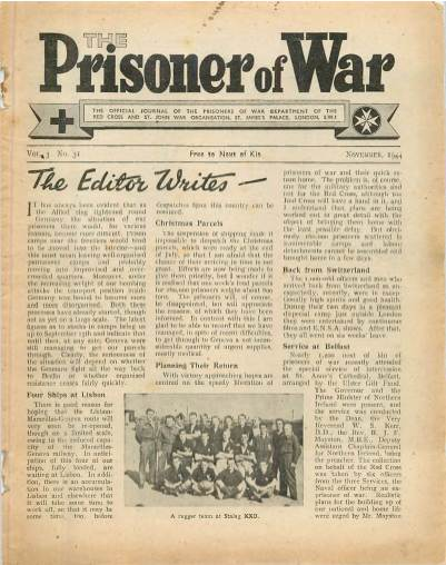 View individual pages of 'The Prisoner of War  No 31 Vol 3 November 1944'