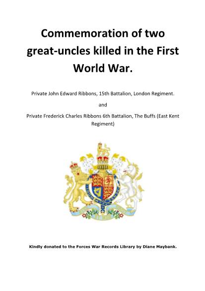 View individual pages of 'Commemoration of two great-uncles killed in the First World War.'