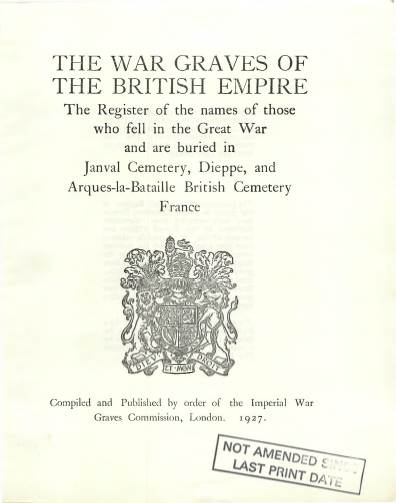 View individual pages of 'Memorial Register, France 377-8, The War Graves of the British Empire'