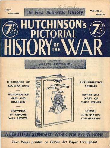 View individual pages of 'Hutchinson's Pictorial History of the War, Series 14 No 8'