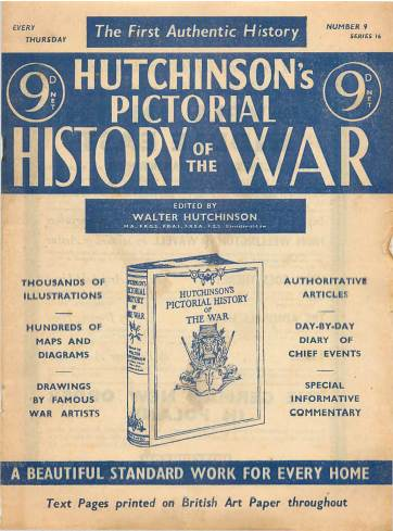 View individual pages of 'Hutchinson's Pictorial History of the War, Series 16 No. 9'