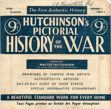 View individual pages of 'Hutchinson's Pictorial History of the War, Series 22 No 4'