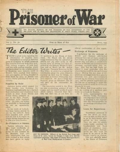 View individual pages of 'The Prisoner of War  No 36 Vol 3 April 1945'