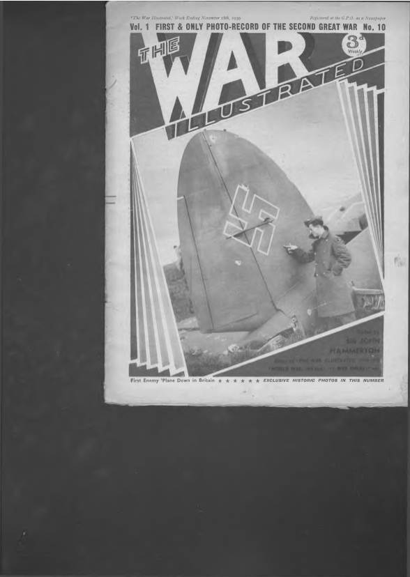 View individual pages of 'The War Illustrated  No 10 Vol 1 November 18th 1939'