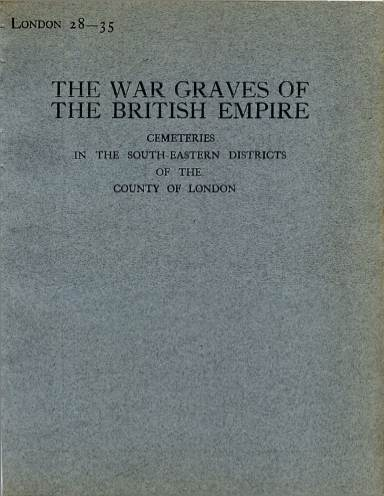 View individual pages of 'Memorial Register London 28-35, WW1, Cemeteries in South East London'
