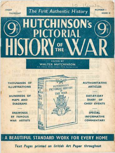 View individual pages of 'Hutchinson's Pictorial History of the War, Series 18 No 1'
