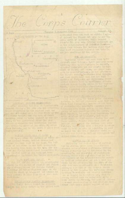 View individual pages of 'The Corps Courier Issues Dec 1944'