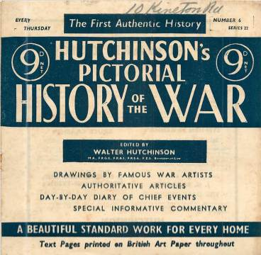 View individual pages of 'Hutchinson's Pictorial History of the War, Series 22 No. 6'