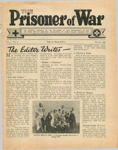 View individual pages of 'The Prisoner of War  No 11 Vol 1 March 1943'