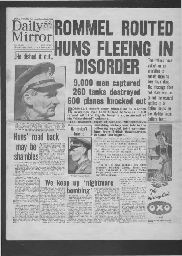 View individual pages of 'Daily Mirror November 5th 1942'
