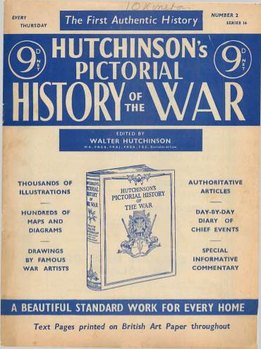 View individual pages of 'Hutchinson's Pictorial History of the War, Series 16 No. 2'