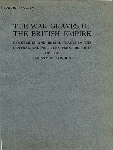 View individual pages of 'Memorial Register London 10-17, WW1, Central and North Eastern Districts of London'