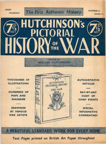 View individual pages of 'Hutchinson's Pictorial History of the War, Series 14 No 5'