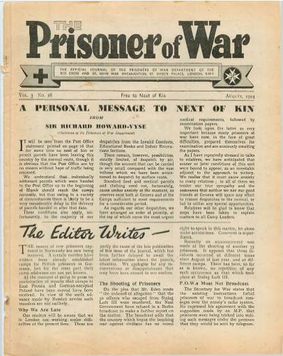 View individual pages of 'The Prisoner of War  No 28 Vol 3 August 1944'