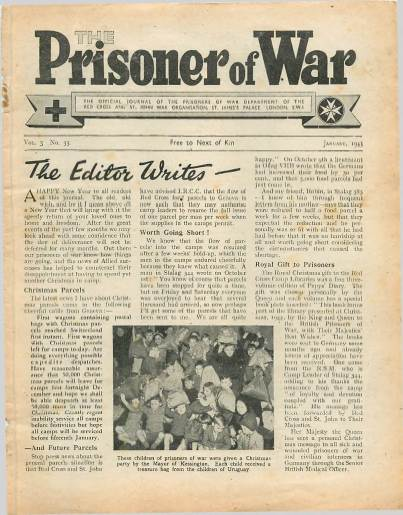 View individual pages of 'The Prisoner of War  No 33 Vol 3 January 1945'