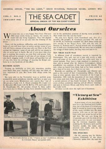 View individual pages of 'The Sea Cadet, No. 5, Vol. 2, January 1945'