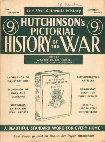 View individual pages of 'Hutchinson's Pictorial History of the War, Series 17 No 9'