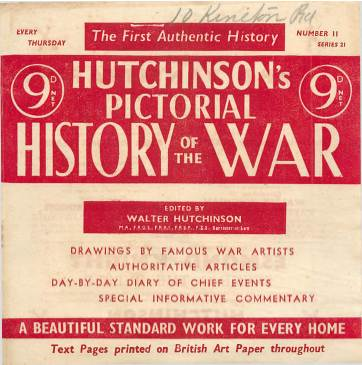 View individual pages of 'Hutchinson's Pictorial History of the War, Series 21 No 11'