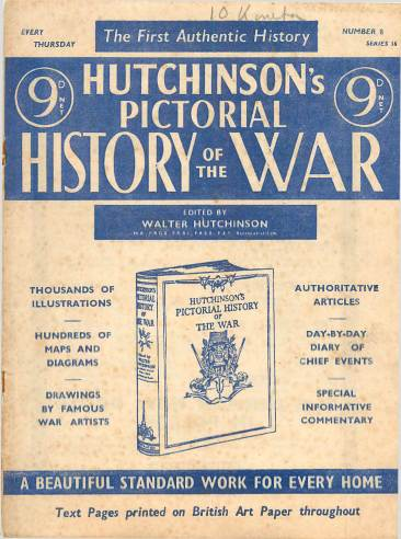 View individual pages of 'Hutchinson's Pictorial History of the War, Series 16 No. 8'