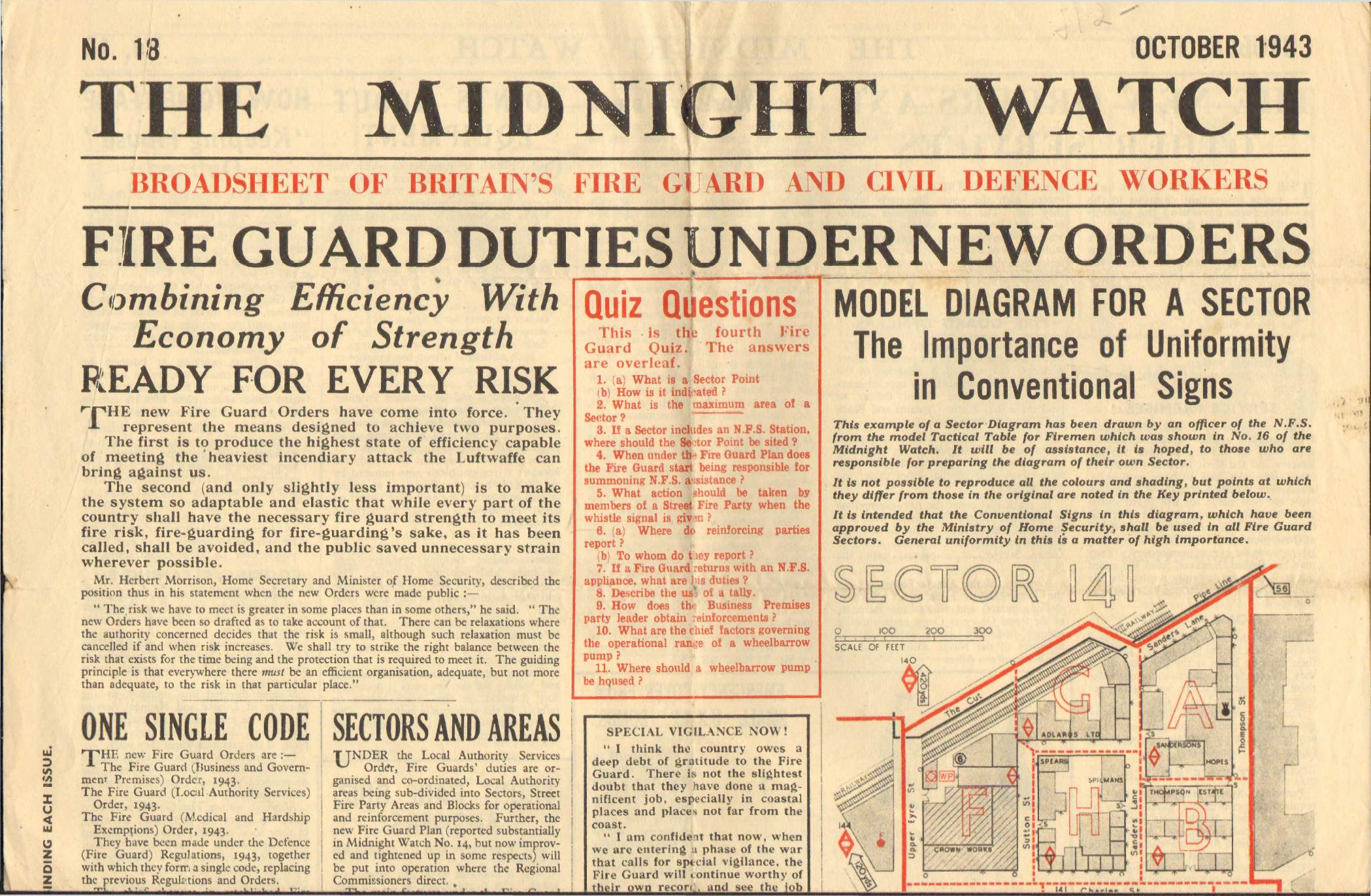 View individual pages of 'The Midnight Watch, October 1943'