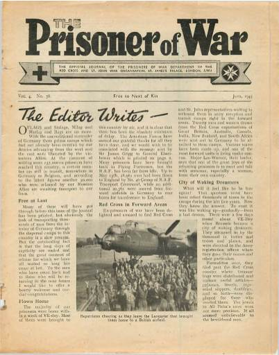 View individual pages of 'The Prisoner of War  No 38 Vol 4 June 1945'