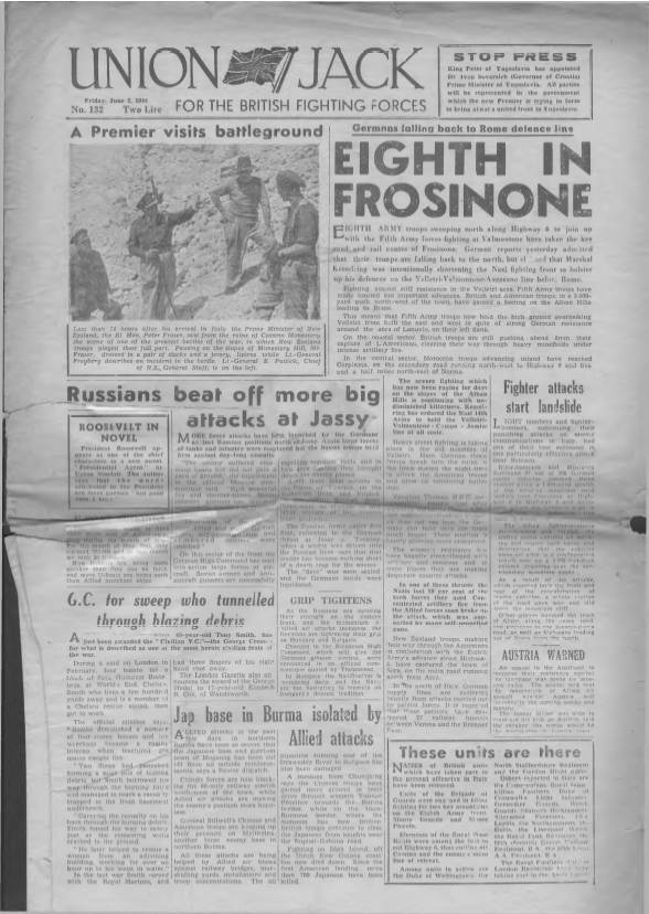 View individual pages of 'Union Jack  No 132 June 2nd 1944'