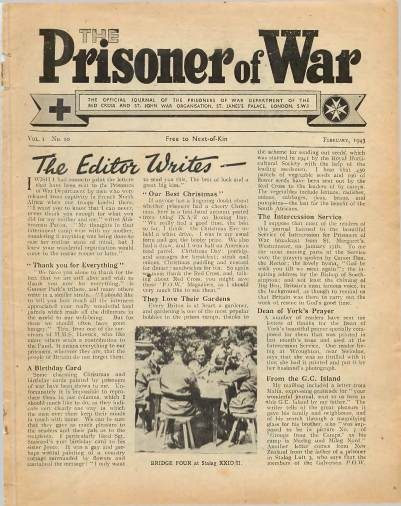View individual pages of 'The Prisoner of War  No 10 Vol 1 February 1943'