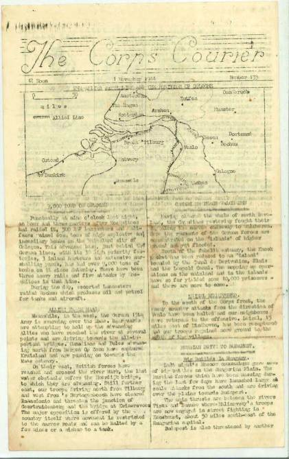 View individual pages of 'The Corps Courier Issues Nov 1944'